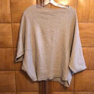 Blush wool dolman sleeve sweater